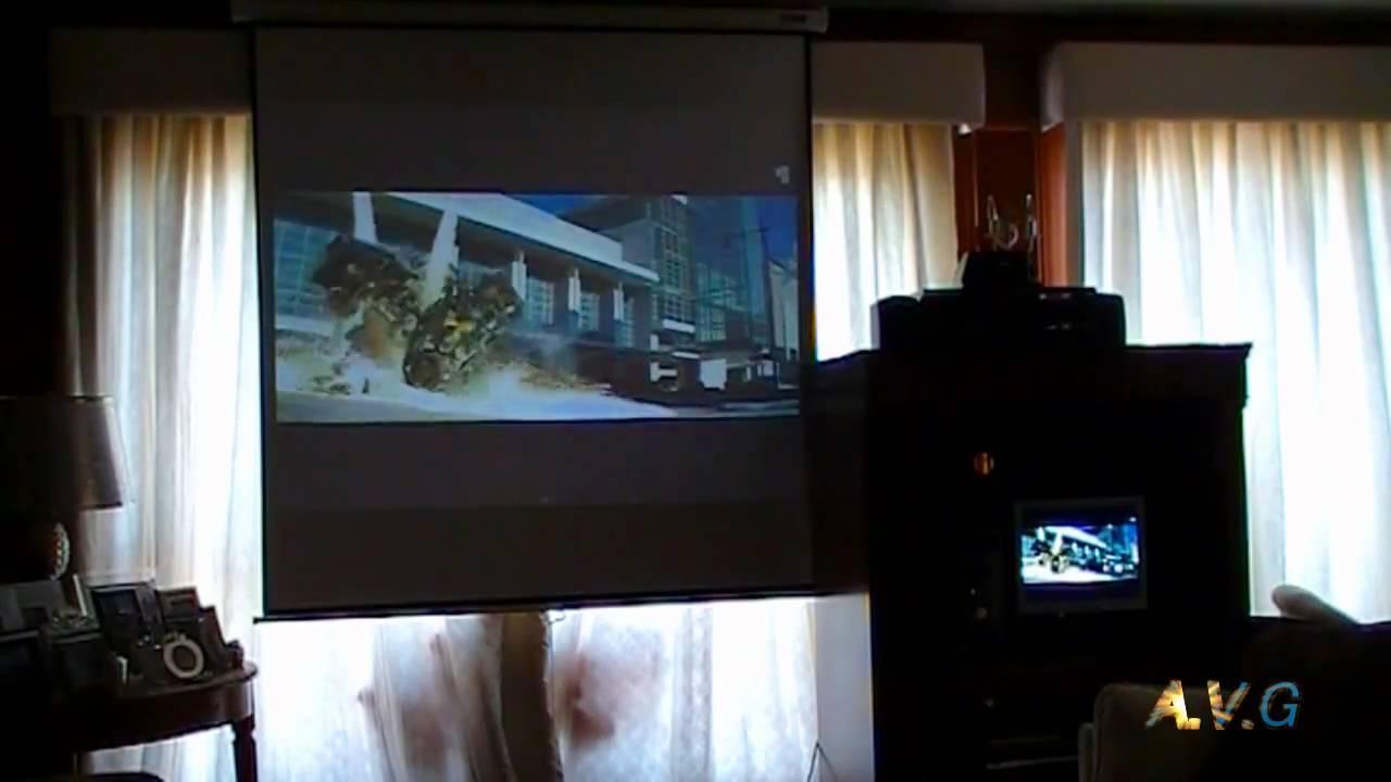 Sala de cine en casa proyector lg hs200 pantalla acer - Sala de cine en casa ...