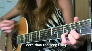 I need you more KIM WALKER guitar cover