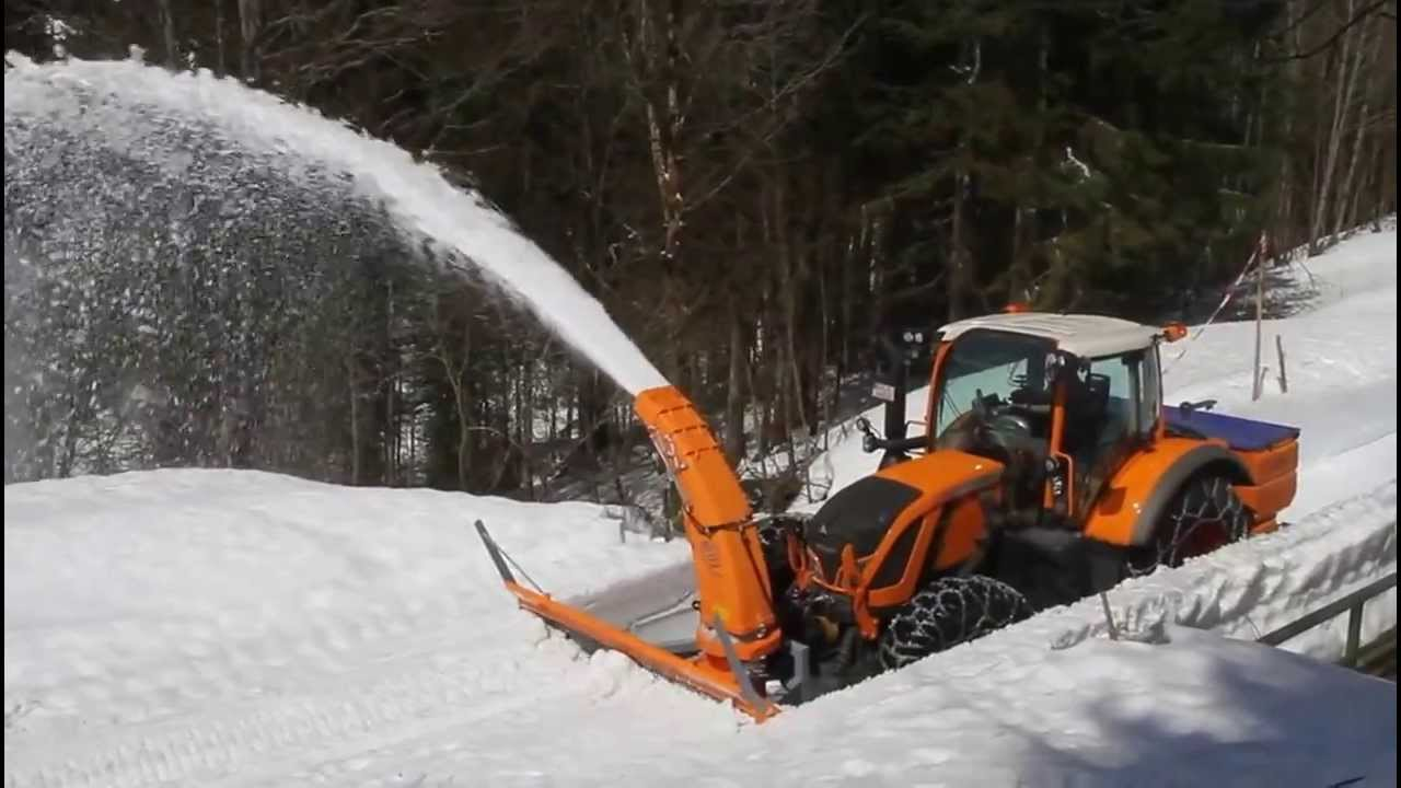 Tractor Mounted Snow Blower Westa 900 2600 - YouTube