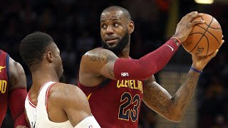 LeBron James on playing point guard in Cavs win over Bulls