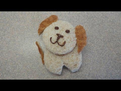 Nutella Pupwiches (cute puppy sandwiches for kids)