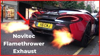 McLaren 570s With EXTREMELY LOUD Novitec Exhaust (FLAMES AND POPS)