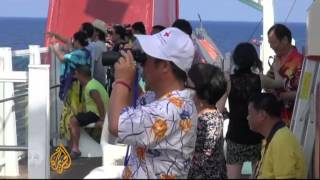 Chinese cruise heads to disputed islands