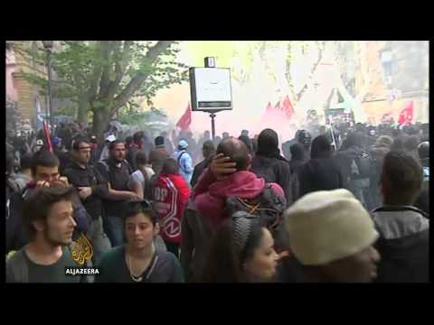 Italy's anti-austerity protest turns violent