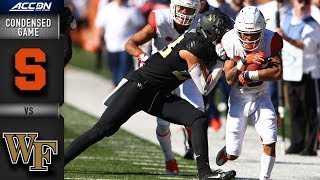 Syracuse vs. Wake Forest Condensed Game | 2018 ACC Football