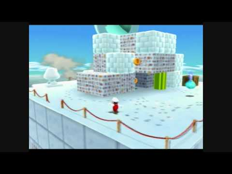 Super Mario Galaxy 2 - Freezy Flake Galaxy - Bowser on Ice Video