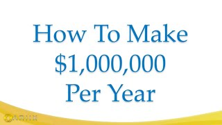 Tim Sales Explains The Quickest Way To One Million Per Year
