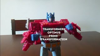 Transformers Optimus prime transformation stop motion 50 sub speacl