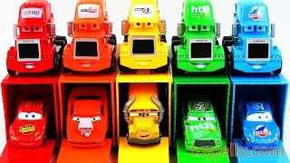 Learn Colors & Numbers with Cars3 Mack Truck Lightning Mcqueen Toys Kinder Surprise Eggs Kinder Joy