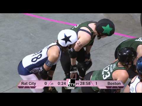 Rat City Roller Girls v Boston Derby Dames at 2013 WFTDA D1 Playoffs in Salem