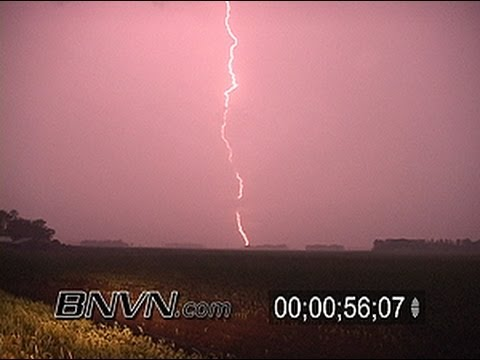 6/7/2005 Vivid Lightning and storm chasing stock video