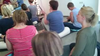Kirtan singing in  yogastudio Den Bosch, Holland..