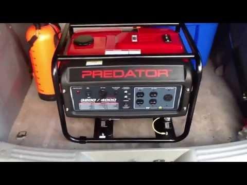 Harbor Freight Predator 4000 watt generator overvi