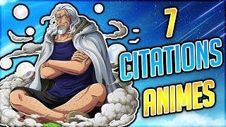 ANALYSE DE 7 CITATIONS MANGAS ET ANIMES