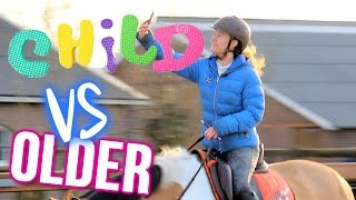 Equestrian Child VS Older YOU! ft. LeanneAbigail + ENGL SUBS | felinehoi