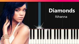 "Rihanna - ""Diamonds"" EASY Piano Tutorial - Chords - How To Play - Cover"