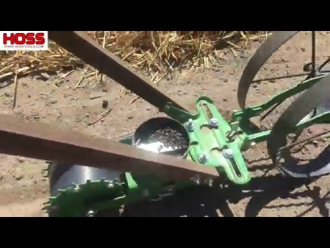 Planting Sunflowers with the Wheel Hoe Seeder Attachment