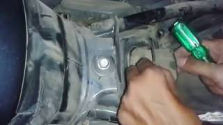 How to change air filter of a bike