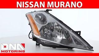 DNA Motoring 03-07 Nissan Murano Sedan Chrome Housing Amber Headlights