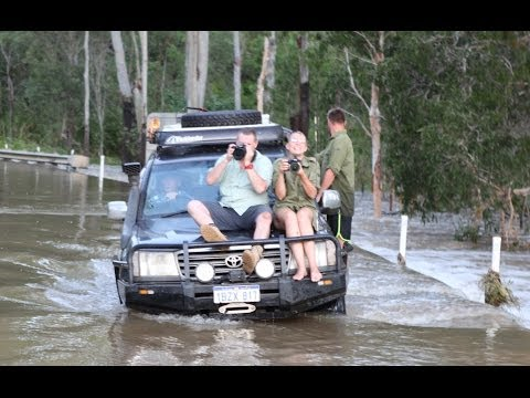 Mc Leod River madness   trapped by floodwaters from Cyclone Ita