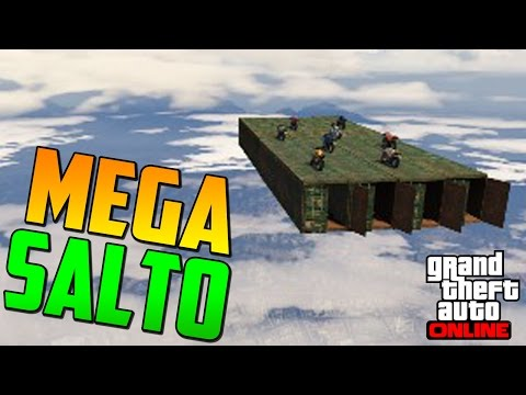 MEGA SALTO INCREÍBLE!!! - Gameplay GTA 5 Online Funny Moments