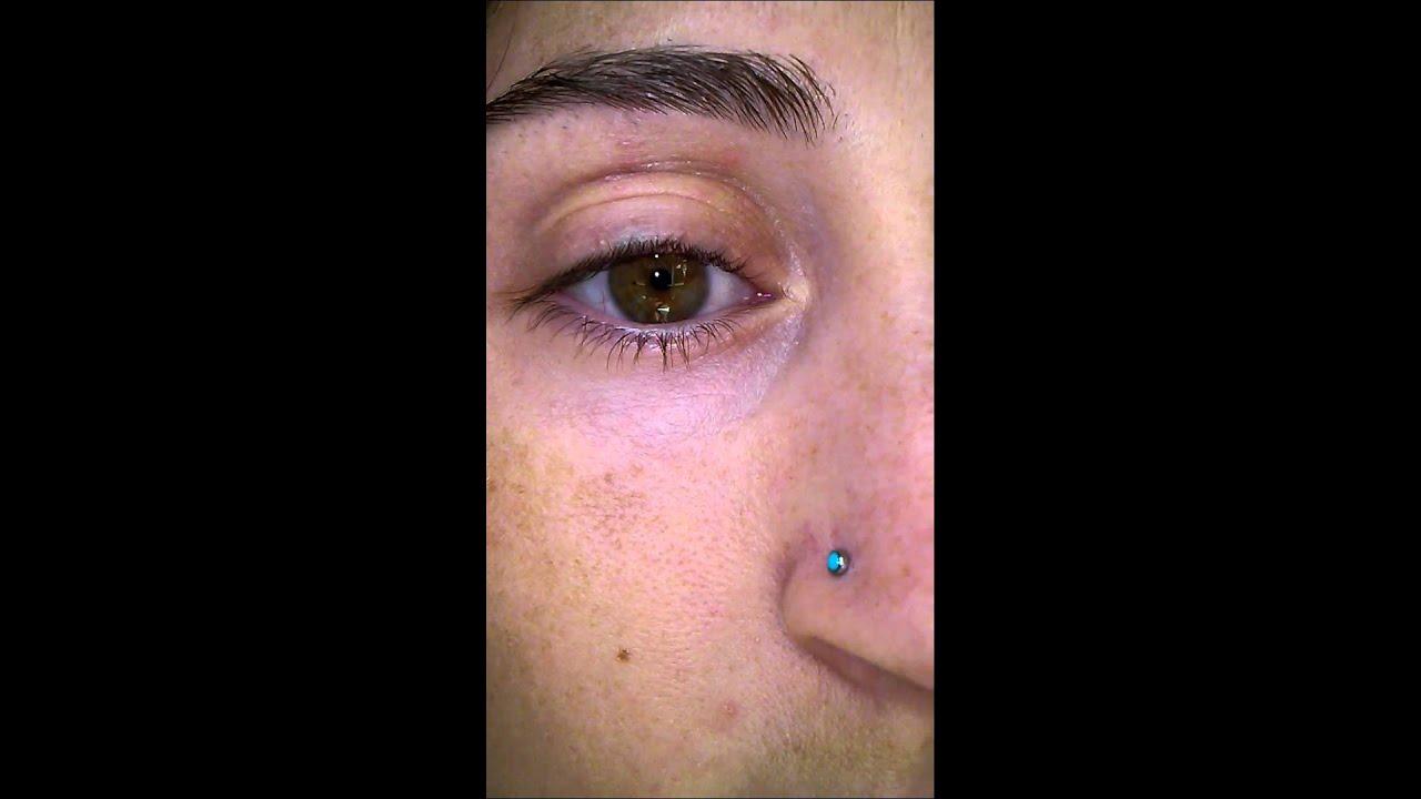 Creepy lower eyelid twitch - YouTube