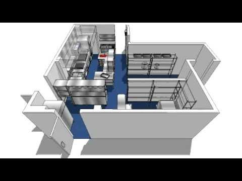 Commercial kitchen design 3d youtube 3d planner free