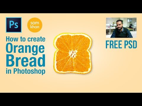 Photoshop tutorial | How to create Orange Bread in photoshop 2017 tutorials by samkhancreative