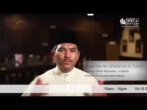 Kuala Lumpur International Craft Festival 2015 (Video Promo: Dato' Ghafar)