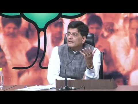 Press Conference by Shri Piyush Goyal on distortion of Shri Amit Shah's statement by media.