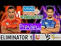 Pro Kabaddi Season 6: Eliminator 1 U Mumba Vs Up Yoodha Preview