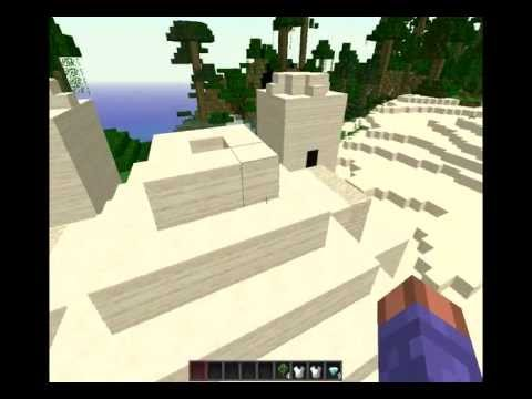 1.3.2 Minecraft Desert NPC Village, Temple, and Diamond seeds
