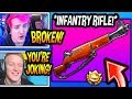 "STREAMERS *FIRST KILLS* With *NEW* ""INFANTRY"" RIFLE! *EPIC* Fortnite FUNNY & SAVAGE Moments thumbnail"