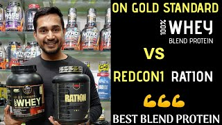 On gold standard 100% whey VS redcon1 ration  Best blend whey proteins  whey protein uses  