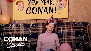 "Andy's Little Sister Invited Conan To Her New Year's Party - ""Late Night With Conan O'Brien"""