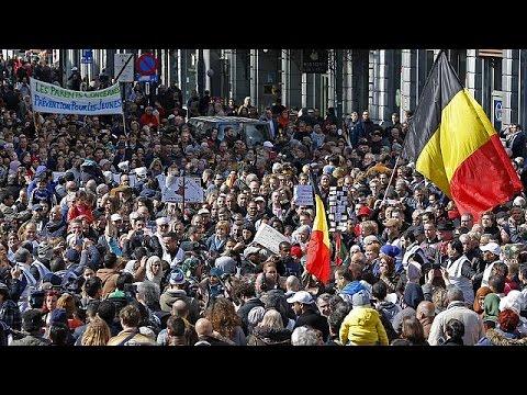 """Belçika'da """"Terör ve nefrete karşı"""" yürüyüş"""