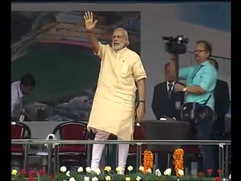 PM Modi at public meeting, at Katra, in Jammu and Kashmir.
