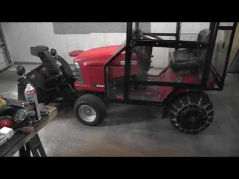 Tractor Cab and Craftsman snow thrower's automation part 2