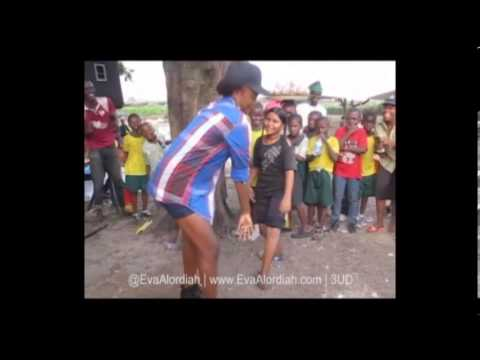 Eva Alordiah - Schooled by Street Kid in Dance Battle