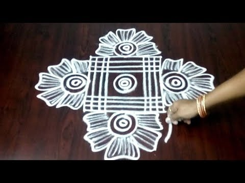 Very Simple Chukkala Muggulu Design || Easy And Simple Kolam || Fashion World