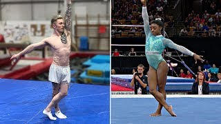 ATTEMPTING 'SIMONE BILES' FLOOR ROUTINE... | Nile Wilson