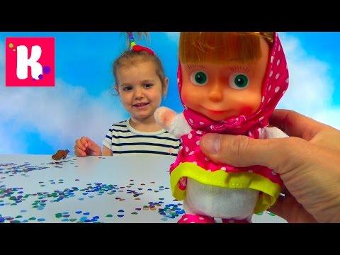 Маша повторюха из мультика Маша и Медведь распаковка сюрпризов игрушек Masha and the Bear toys