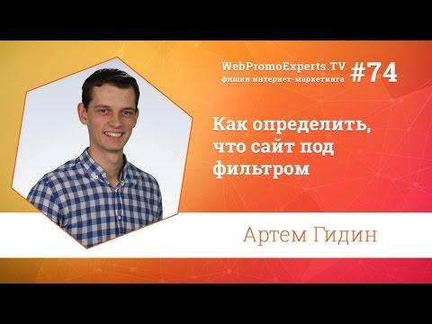 Как определить, что сайт под фильтром. Артем Гидин. TV #74