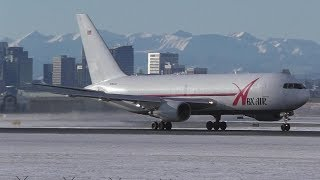 ABX Air 767-200 [N767AX] Landing and Takeoff at Calgary Airport