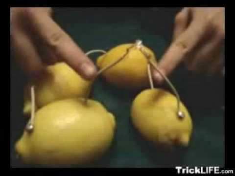 Батарейка из лимона. Самоделки