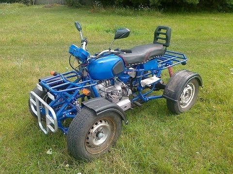 Самодельный квадроцикл на базе мотоцикла Днепр и ВАЗ 2101 Homemade ATV based motorcycle Dnepr
