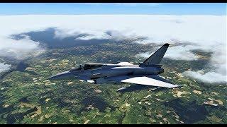 X Plane 11 - Orbx Tru Earth England - Eurofighter!