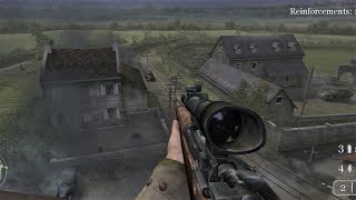 WW2 - Sniper in Normandy - The Silo - Call of Duty 2