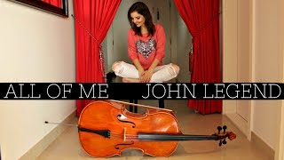 John Legend All Of Me Cello By Vesislava