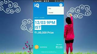 iQ Live New Live Trivia Game Show App. Play And Answer Simple GK Questions to Win ₹100000 Everyday.